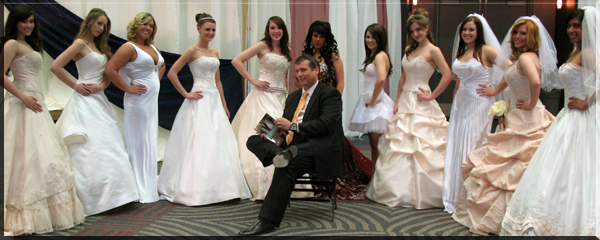 Recent Events for The Best Wedding Reception Ever! Peter Merry reading The Best Wedding Reception Ever! while surrounded by Bride/Models at the Premier Bride Showcase in Reno, Nevada. Photo Credit: